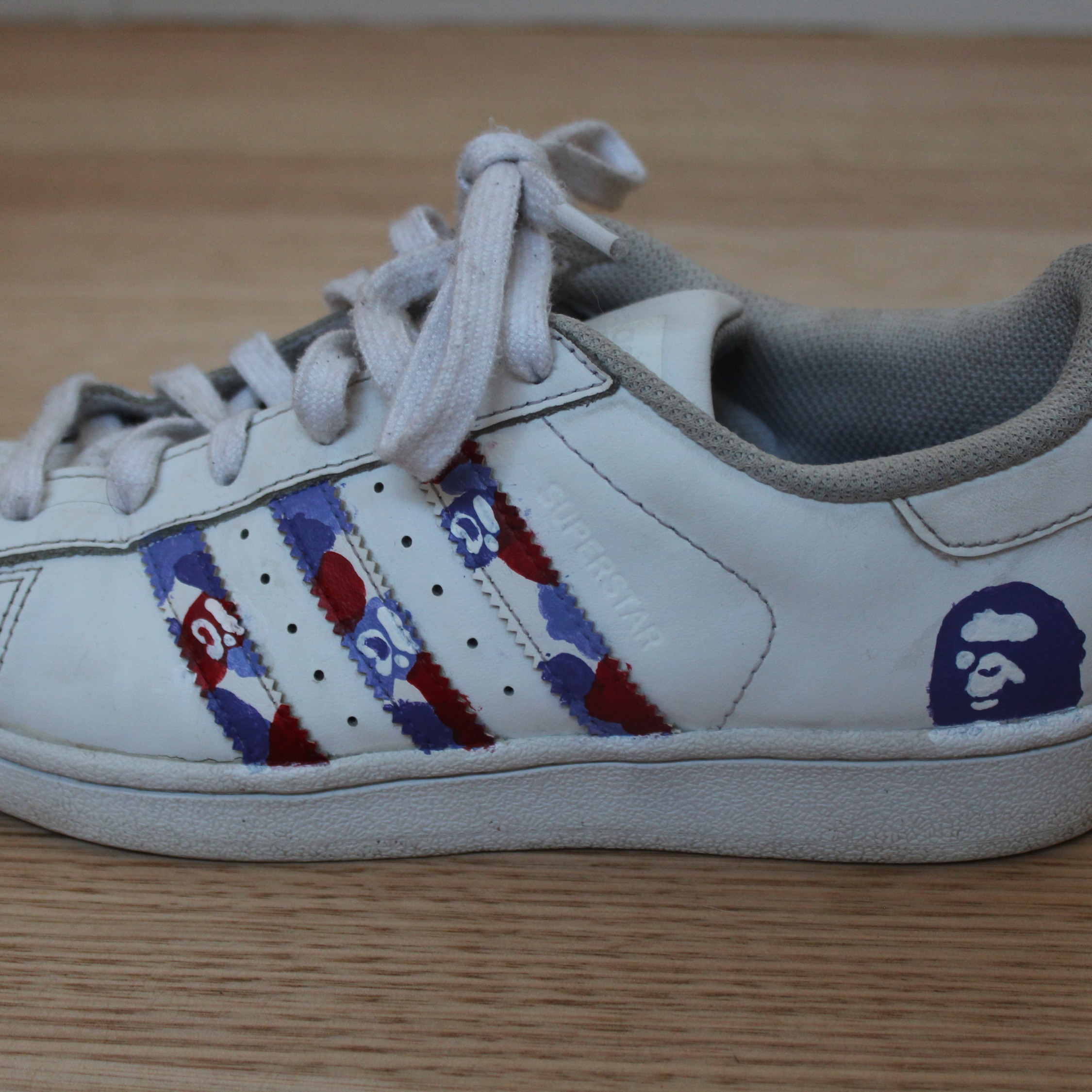 Verrassend Custom Bape Adidas Superstars LY-59