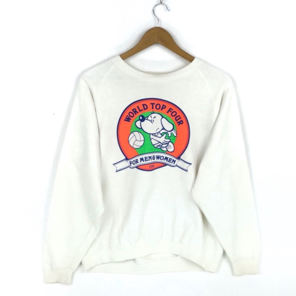 Vintage 90S World Top Four Sweatshirt Streetwear