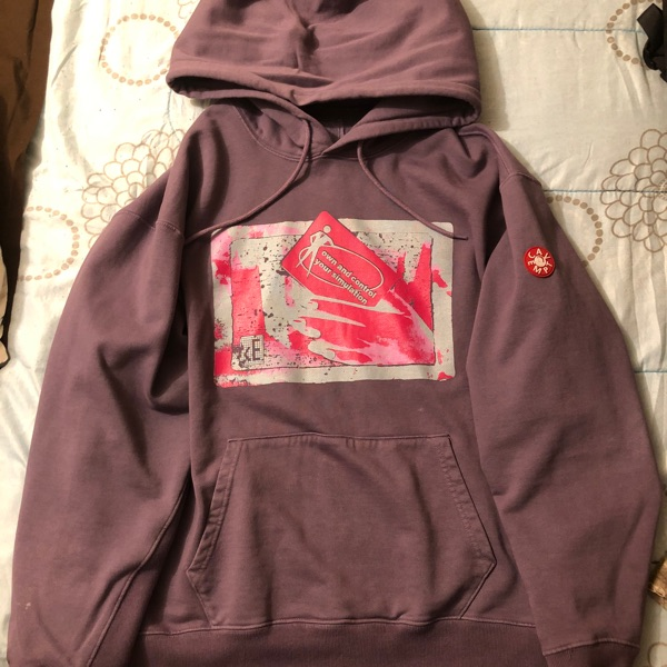 Cav Empt Own And Control Overdye Purple Hoodie