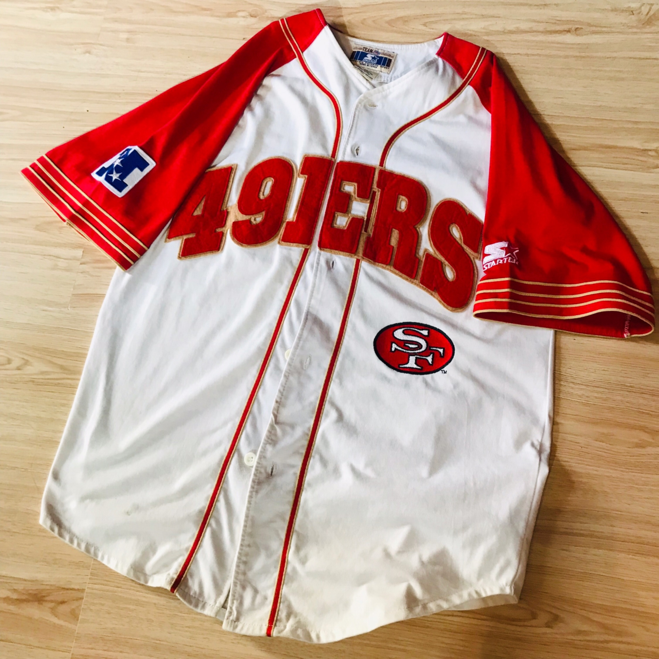 hot sale online eb54a 11ded Vintage Starter Sf 49Ers Cotton Jersey