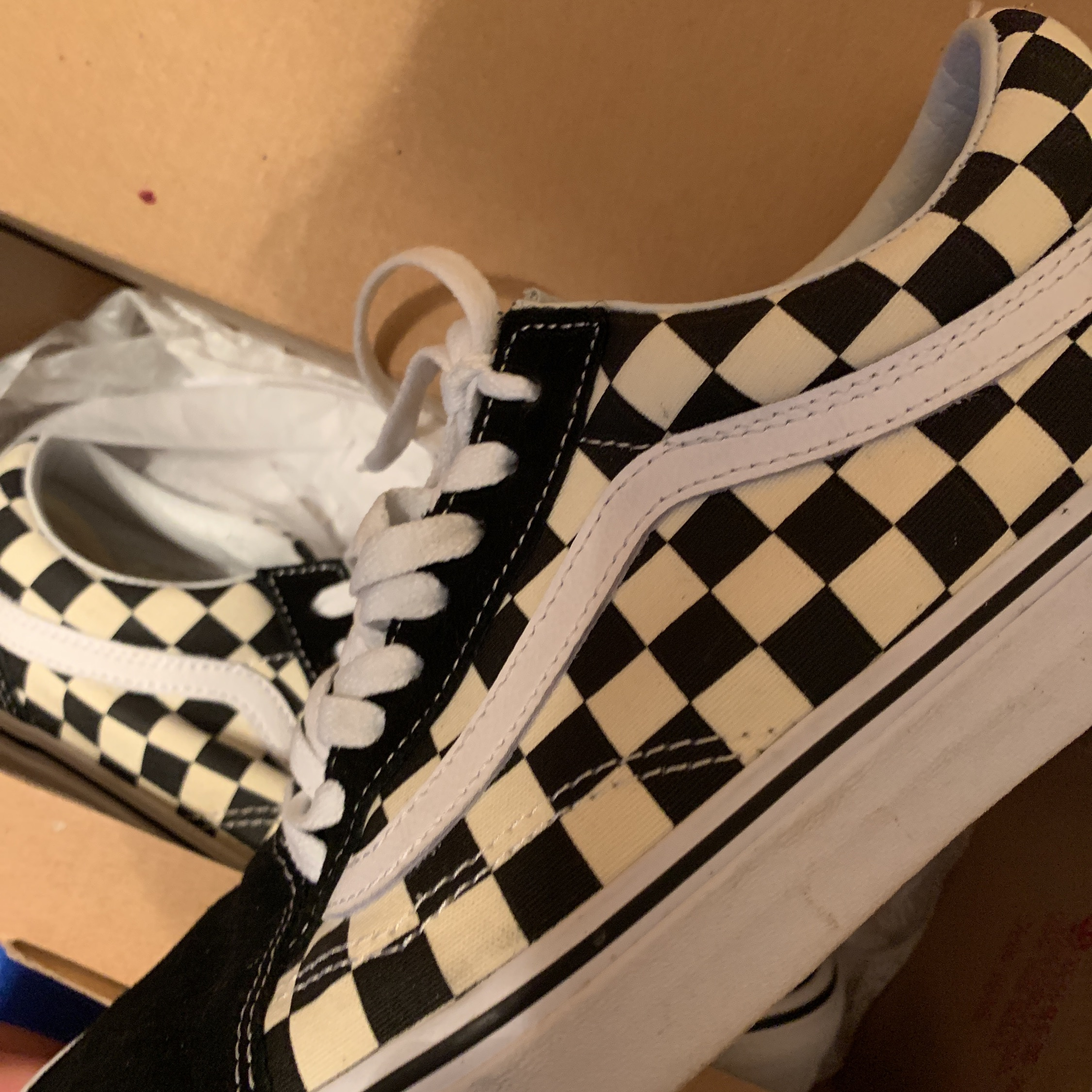 Checkered Vans With Laces