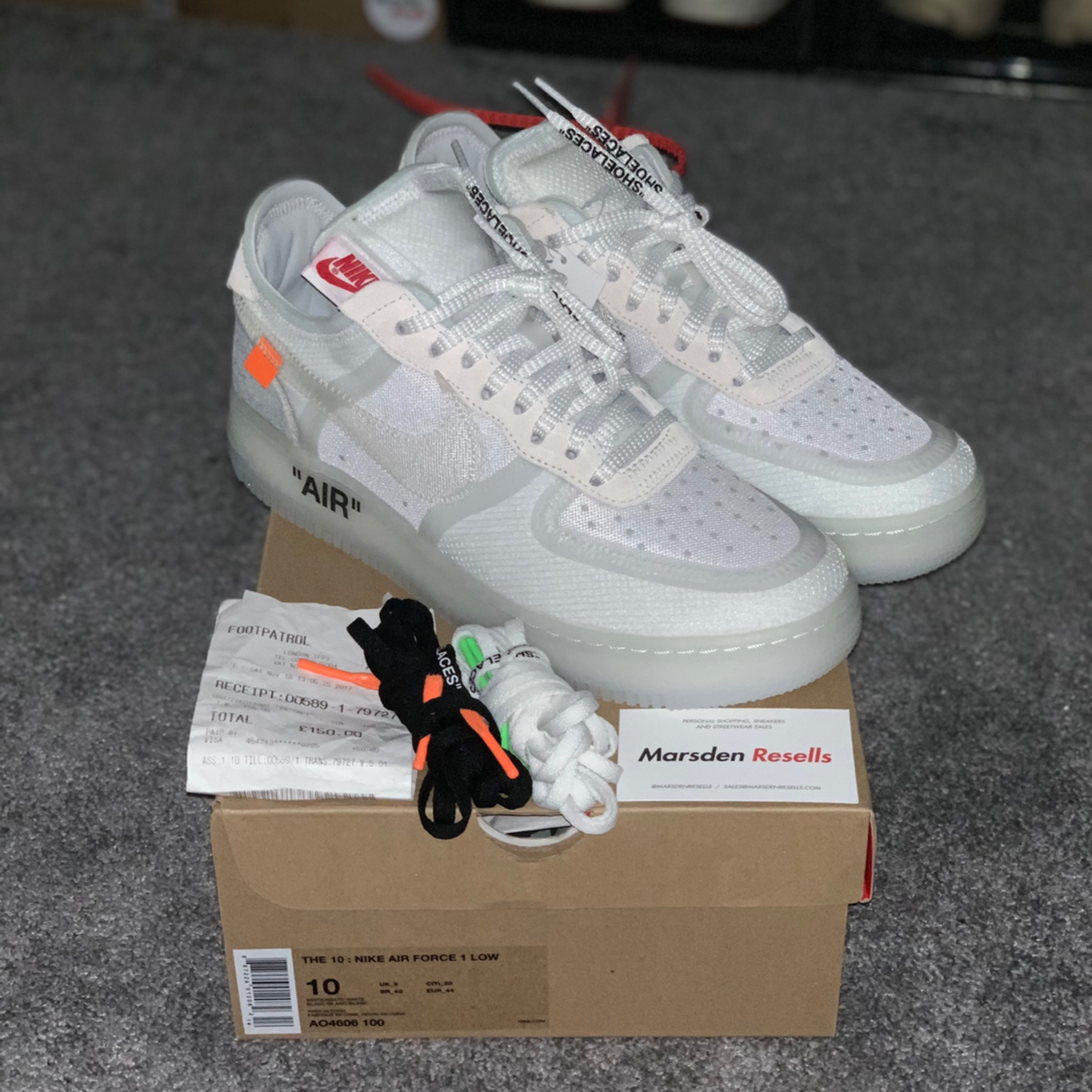 100% quality new arrive on sale Off White X Nike Air Force 1 'Og'