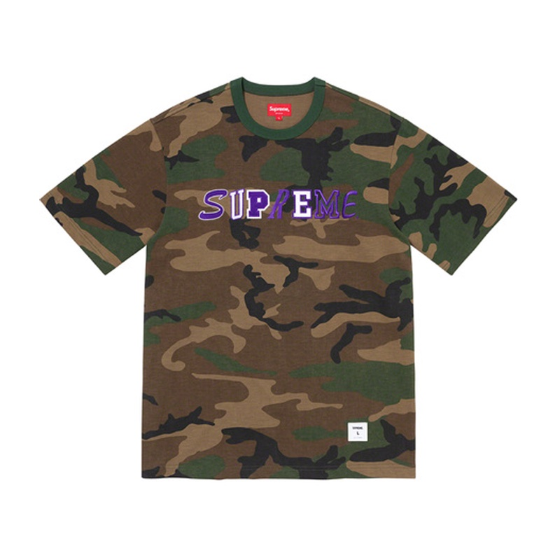 Supreme Collage Logo S/S Top Woodland Camo
