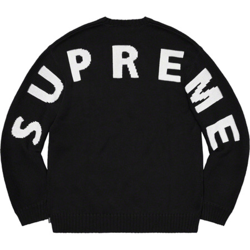Supreme Back Logo Sweater Black