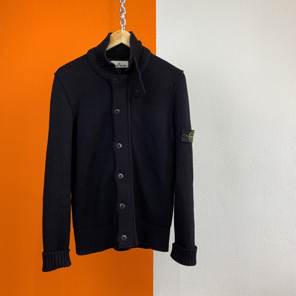 Stone Island Zip Cardigan Sweater