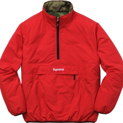 Reversible Pullover Puffer Jacket Large