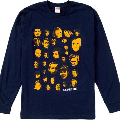 Supreme Faces L/S Tee Navy Medium Size