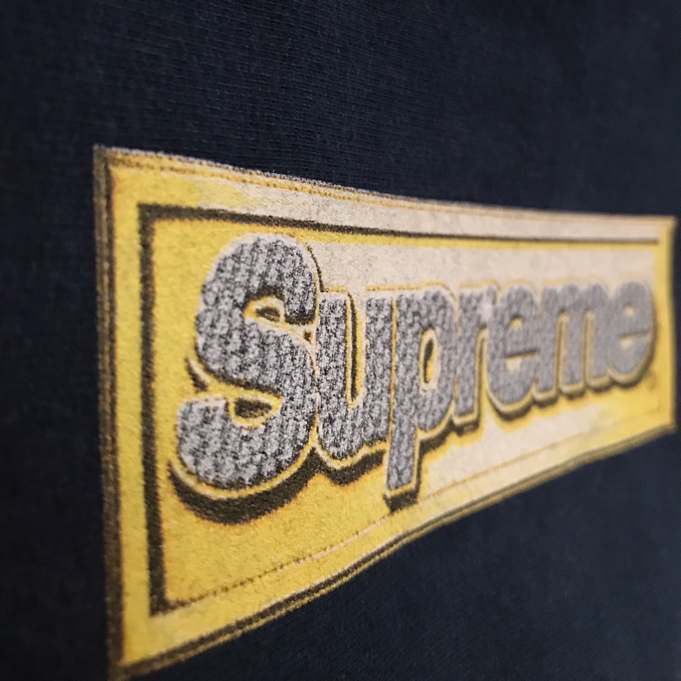 Ss13 Supreme Bling Box Logo Hooded Sweatshirt