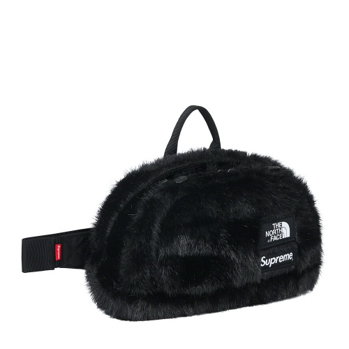 Supreme The North Face Faux Fur Waist Bag Black