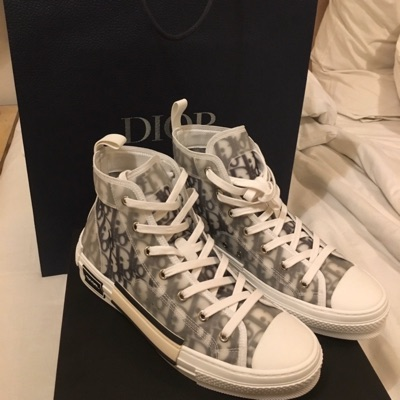Dior X Kaws Hi-Top Sneakers