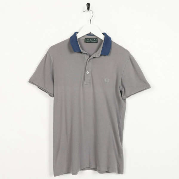 Vintage FRED PERRY Small Logo Polo Shirt Top Brown | Small S