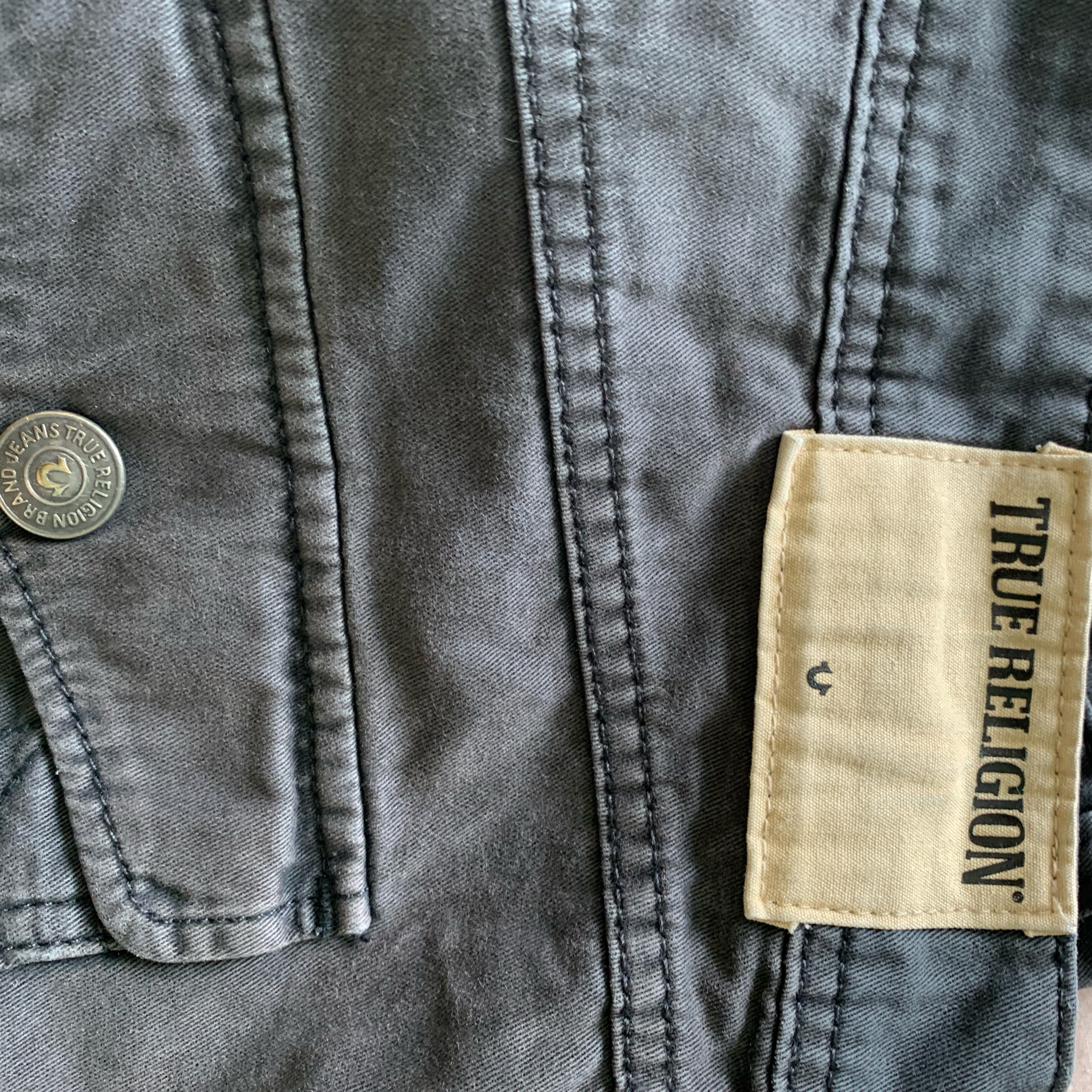 True Religion Grey Jeans 32""