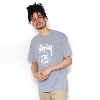 Stussy Grey And Blue Tee