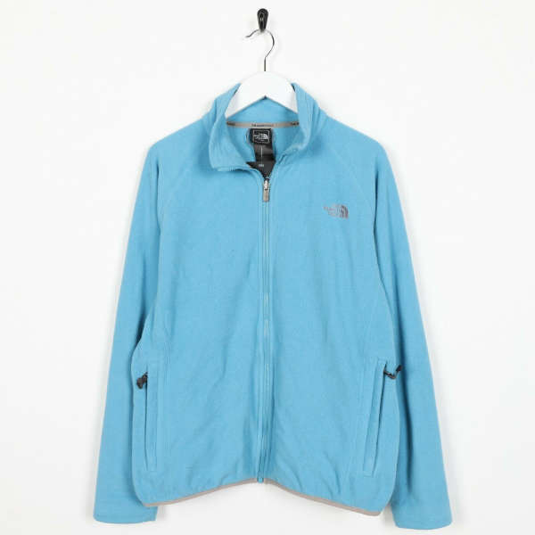 Vintage Women's THE NORTH FACE Zip Up Fleece Top Blue | Medium M