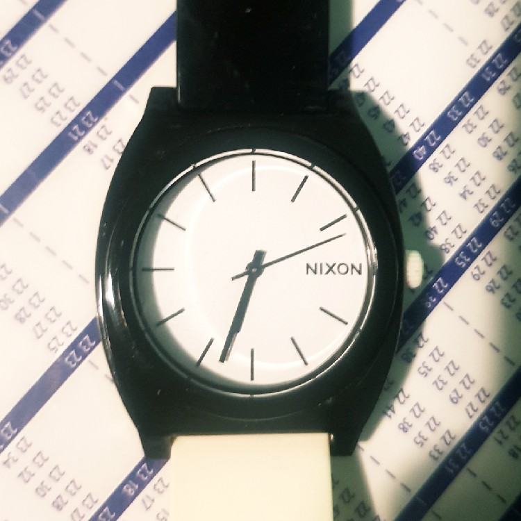 Nixon Black and White watch One Size
