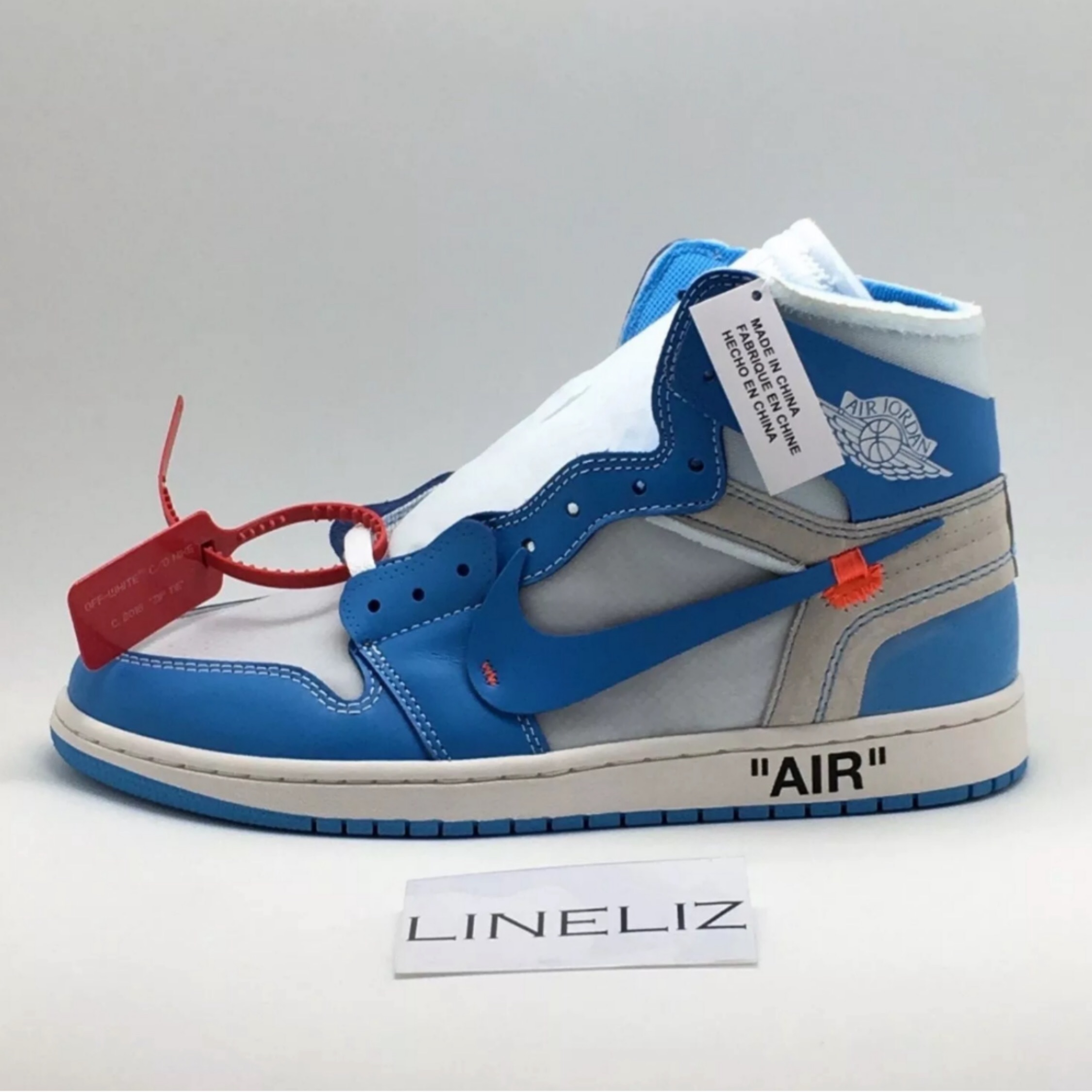 nike x off Weiß air jordan 1 blue