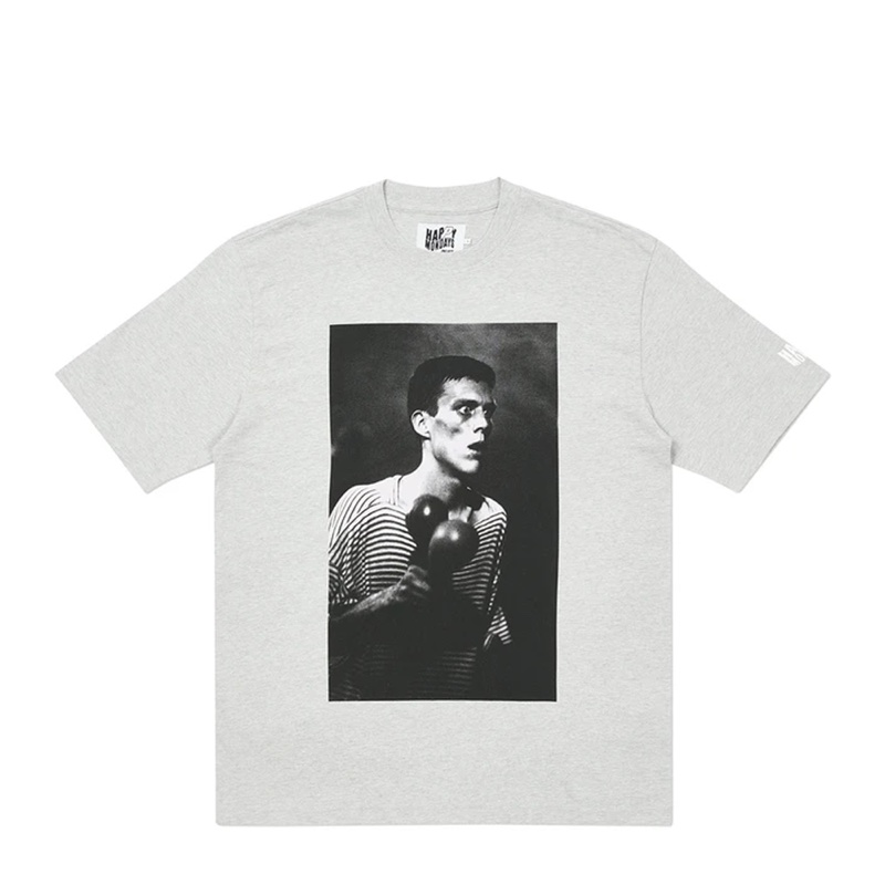 Palace Happy Mondays Bez T-Shirt Grey Marl