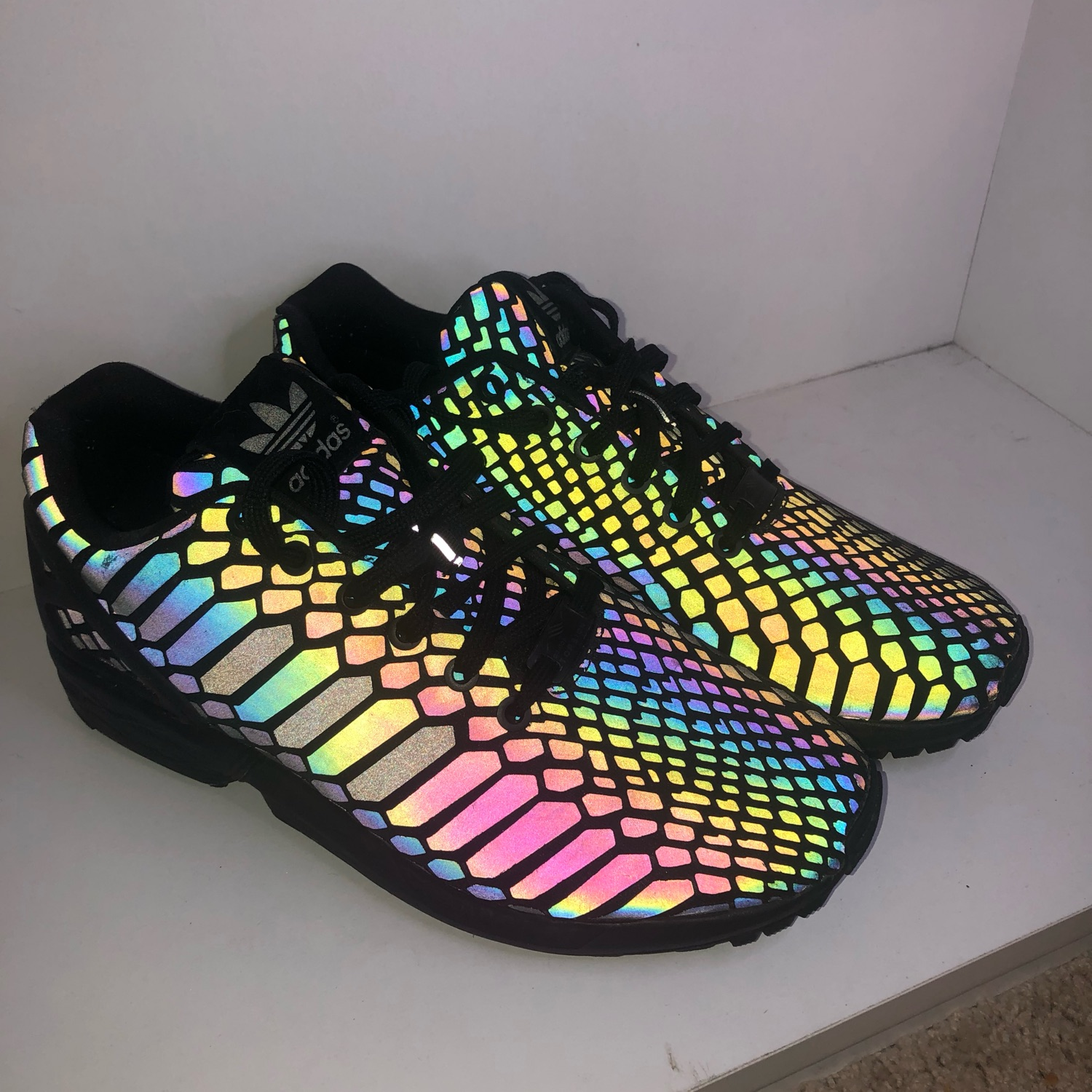 detailed look 6a05f abe15 Adidas Zx Flux Xeno Torsion Black Sz 8.5