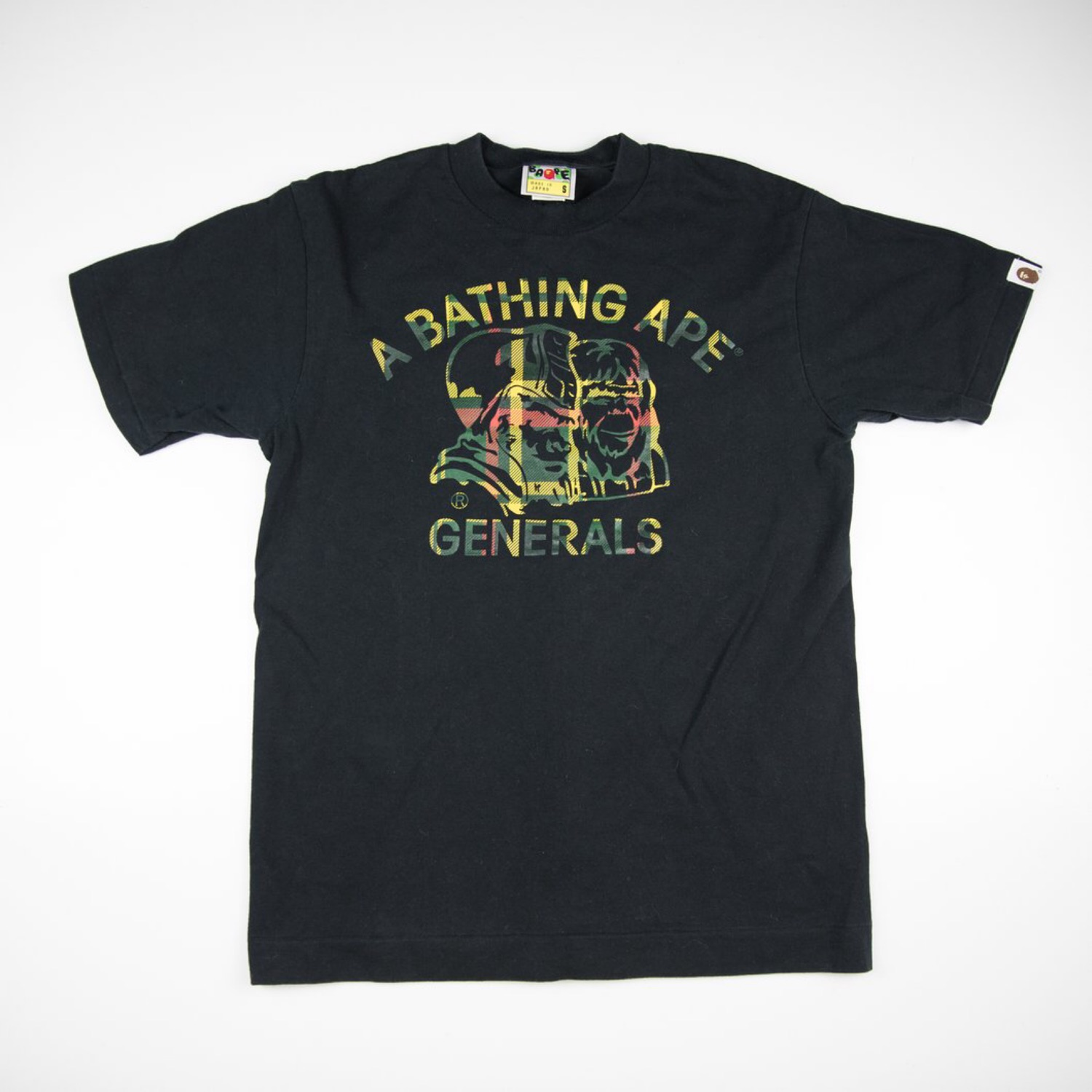 Bape Checkered General Tee Black (Used - Small)