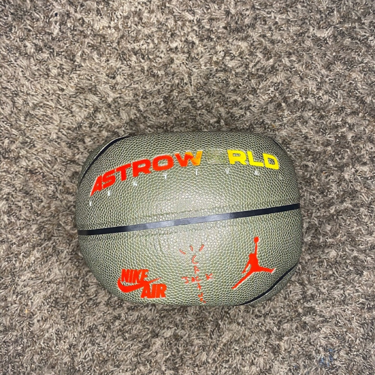 Travis scott astroworld olive green basketball sample