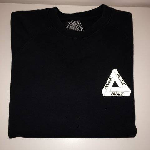 Palace OG Black crewneck 3M reflective
