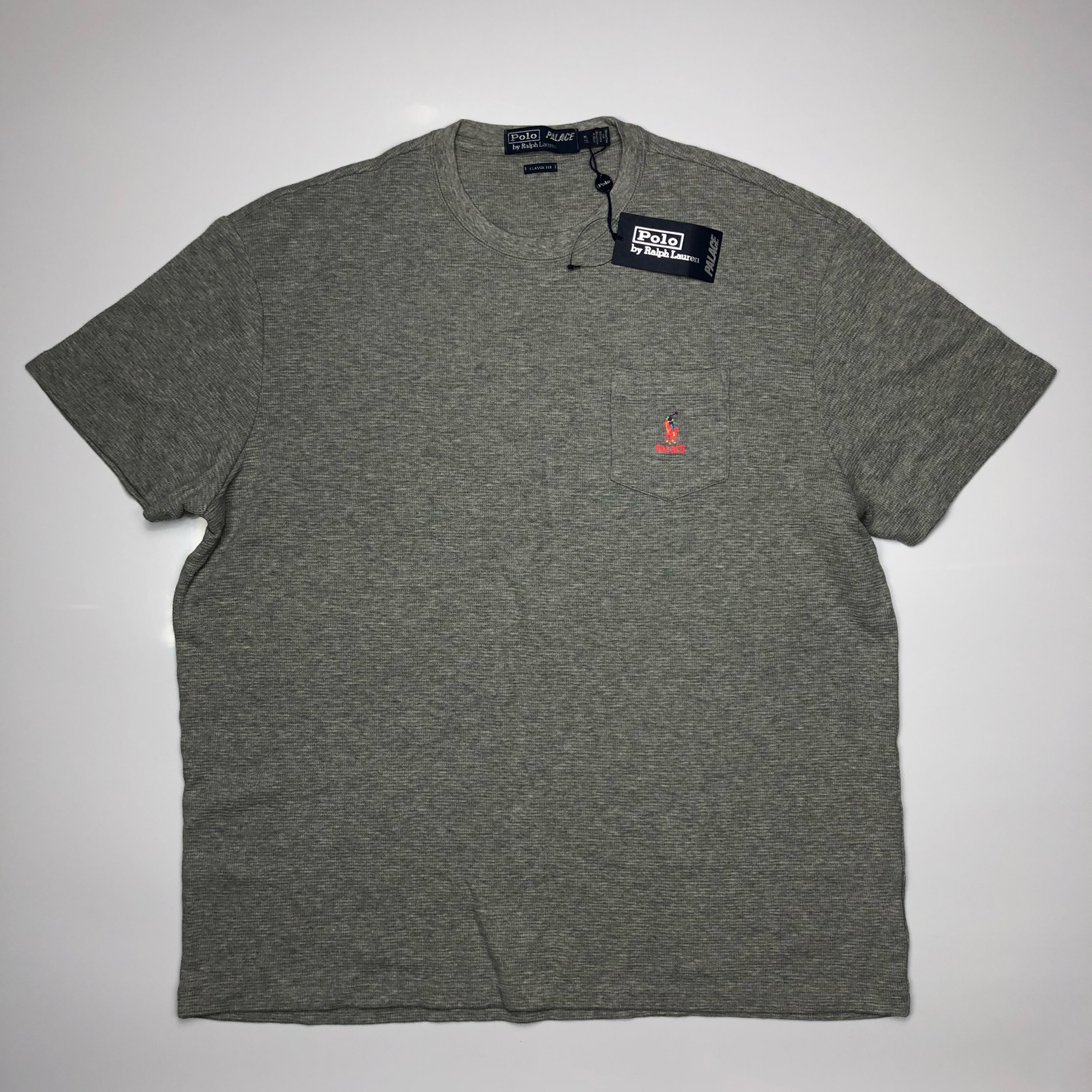 Palace Ralph Lauren Waffle Pocket Tee Andover Heather