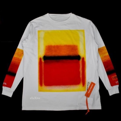 Heron Preston Spraypaint 'Artwork' Print L/S