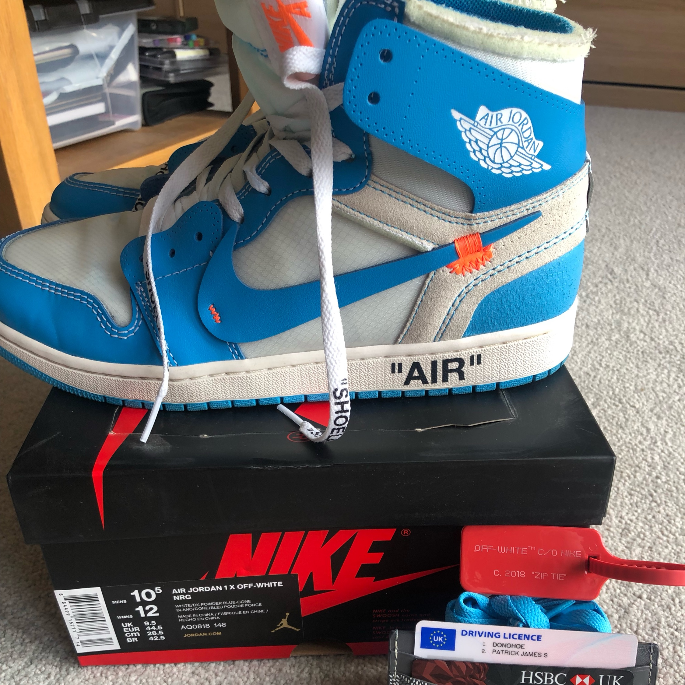 huge discount 87b50 814ba Off White X Nike Jordan 1 Unc