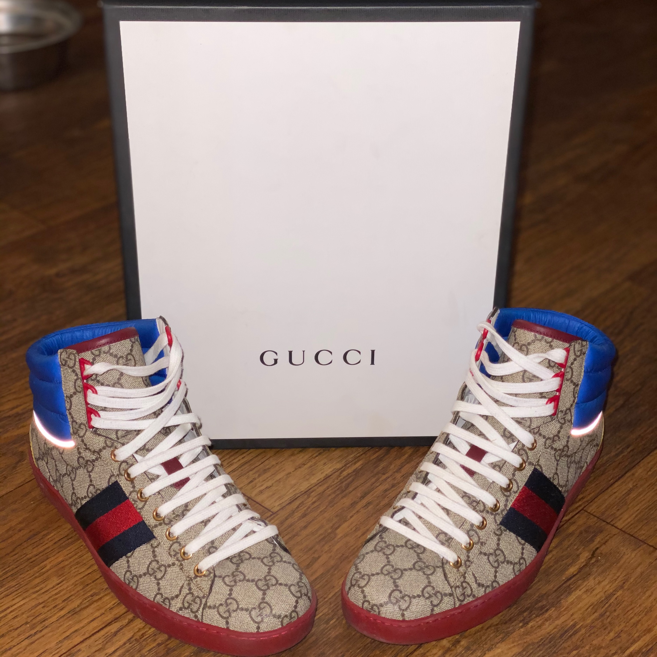 gucci ace gg high top