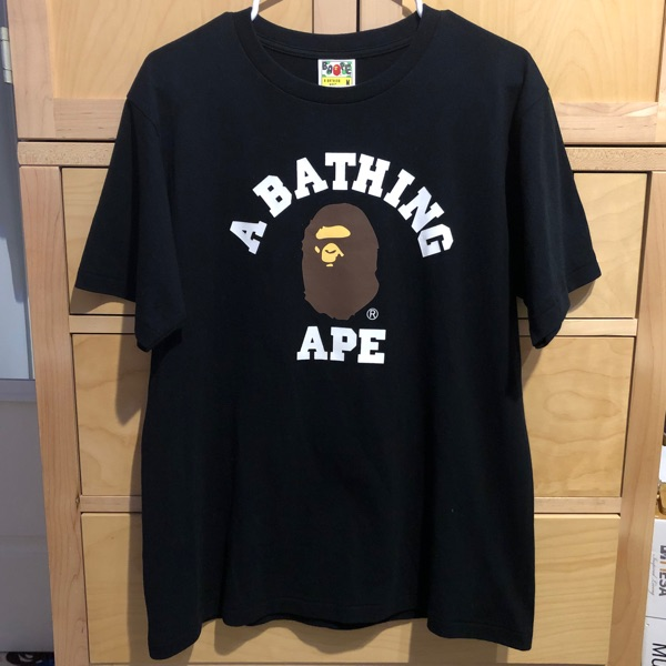 Bape College Tee Black