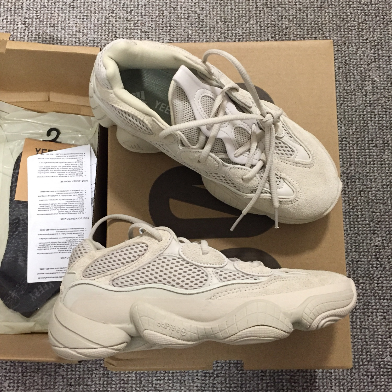 cheap for discount 0ab38 6a8a6 Adidas X Yeezy 500 Blush Size Uk5