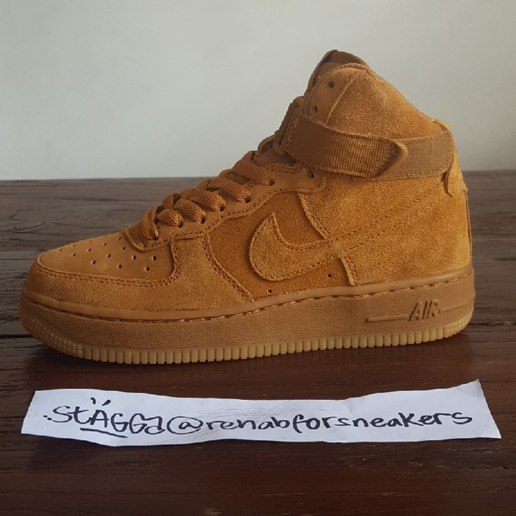 Nike Air Force One High Wheat </p>                     </div>   <!--bof Product URL --> <!--eof Product URL --> <!--bof Quantity Discounts table --> <!--eof Quantity Discounts table --> </div>                        </dd> <dt class=