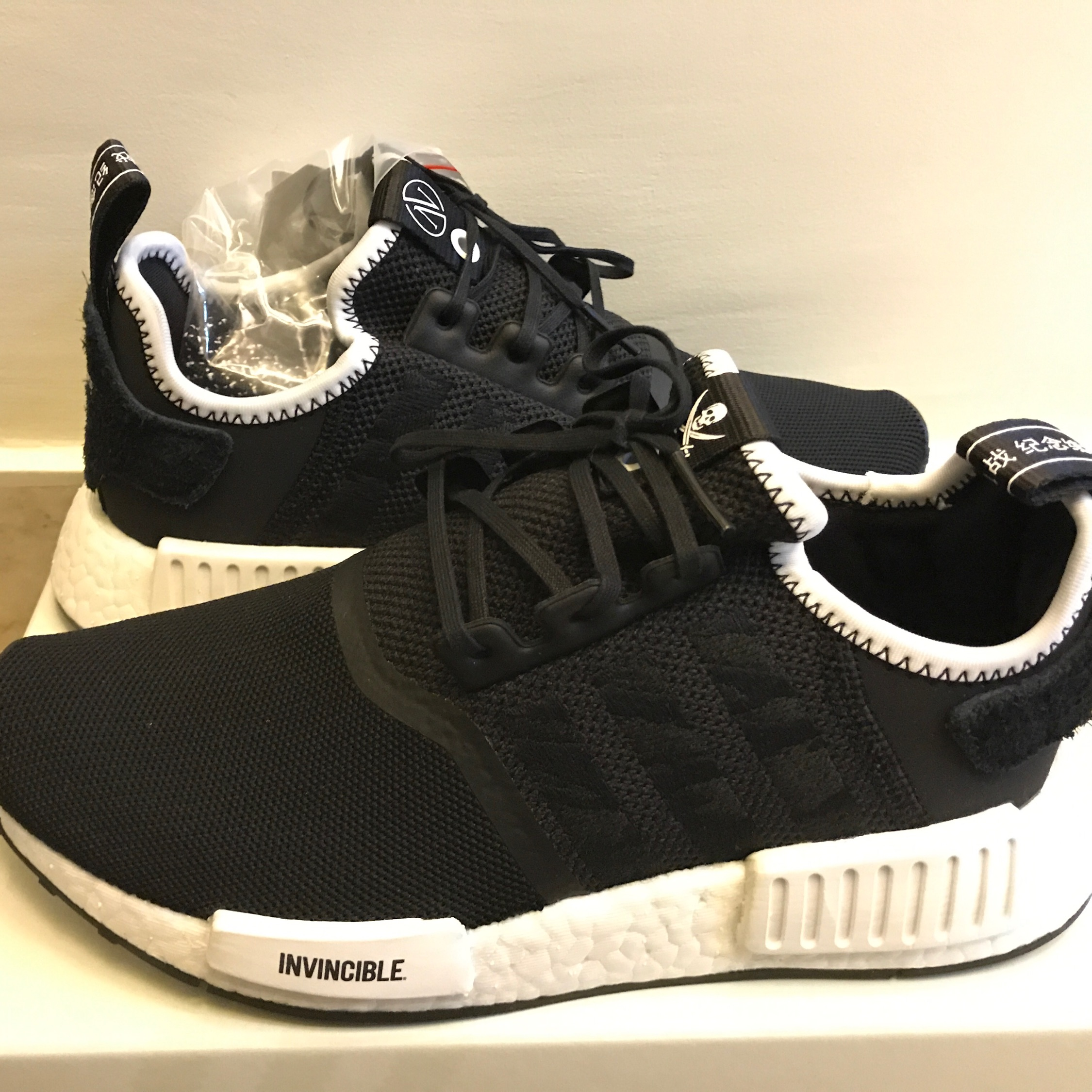 newest 3b177 a6c1c Adidas Invincible X Neighborhood Nmd R1 Size 5 Us