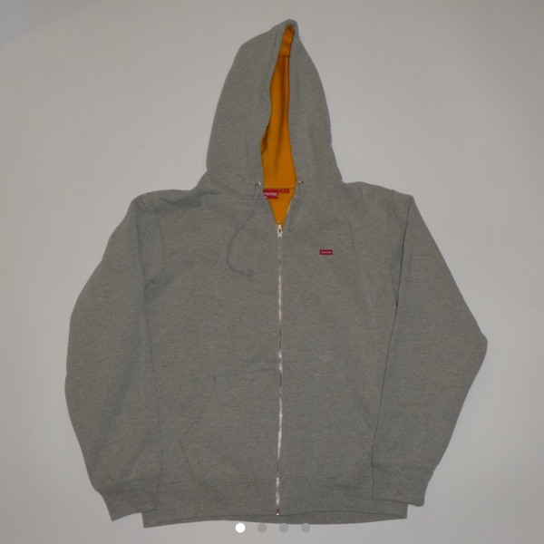Supreme Small Box Logo Full Zip Contrast Hoodie