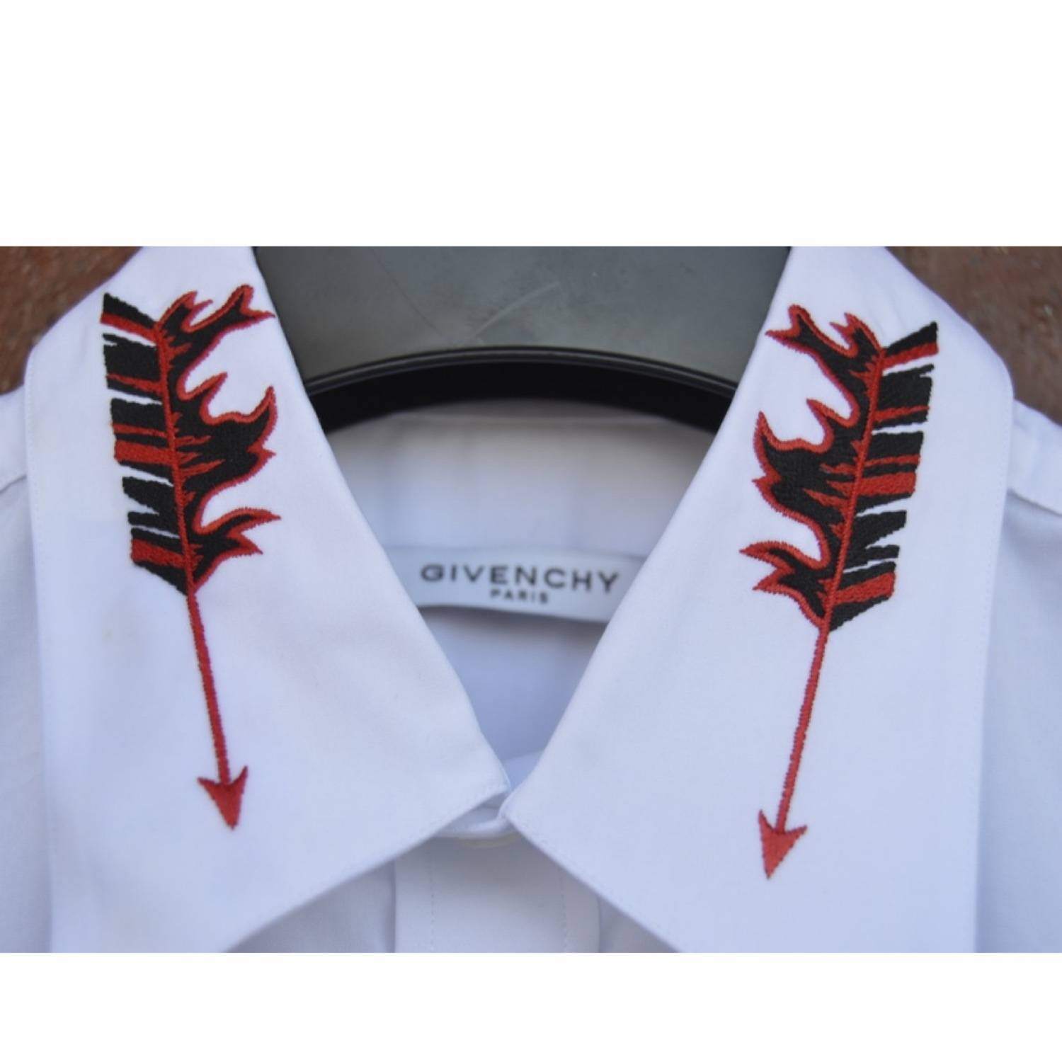 Givenchy Flaming Arrow Collar Shirt