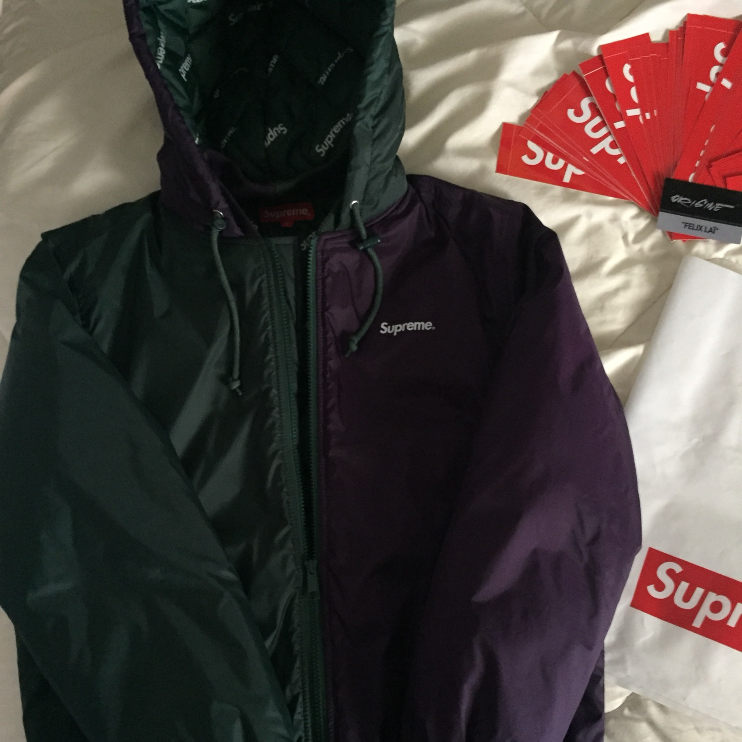 finest selection 71984 f6add Supreme 2 Tone Hooded Sideline Jacket (Fw15)