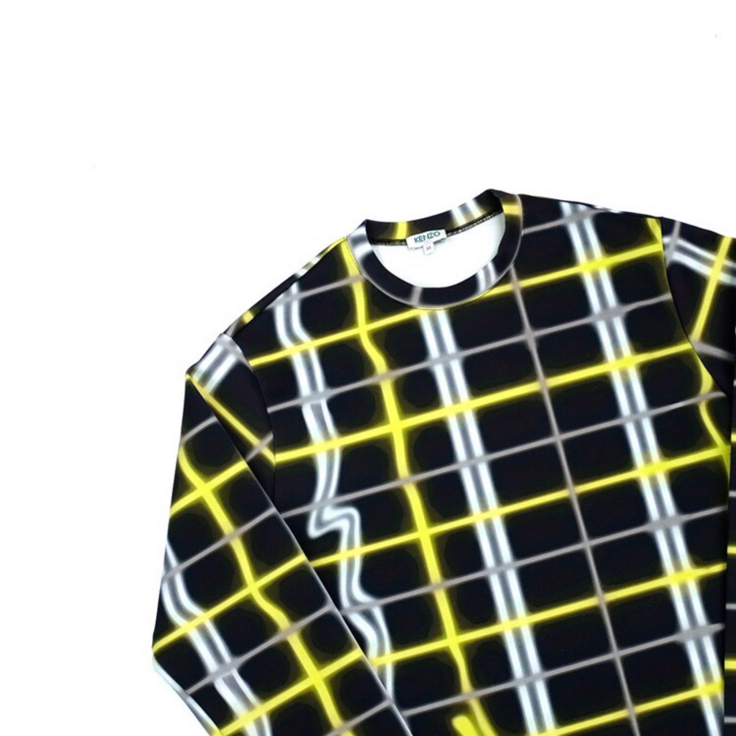 Kenzo Check / Plaid Neoprene Jumper / Sweater