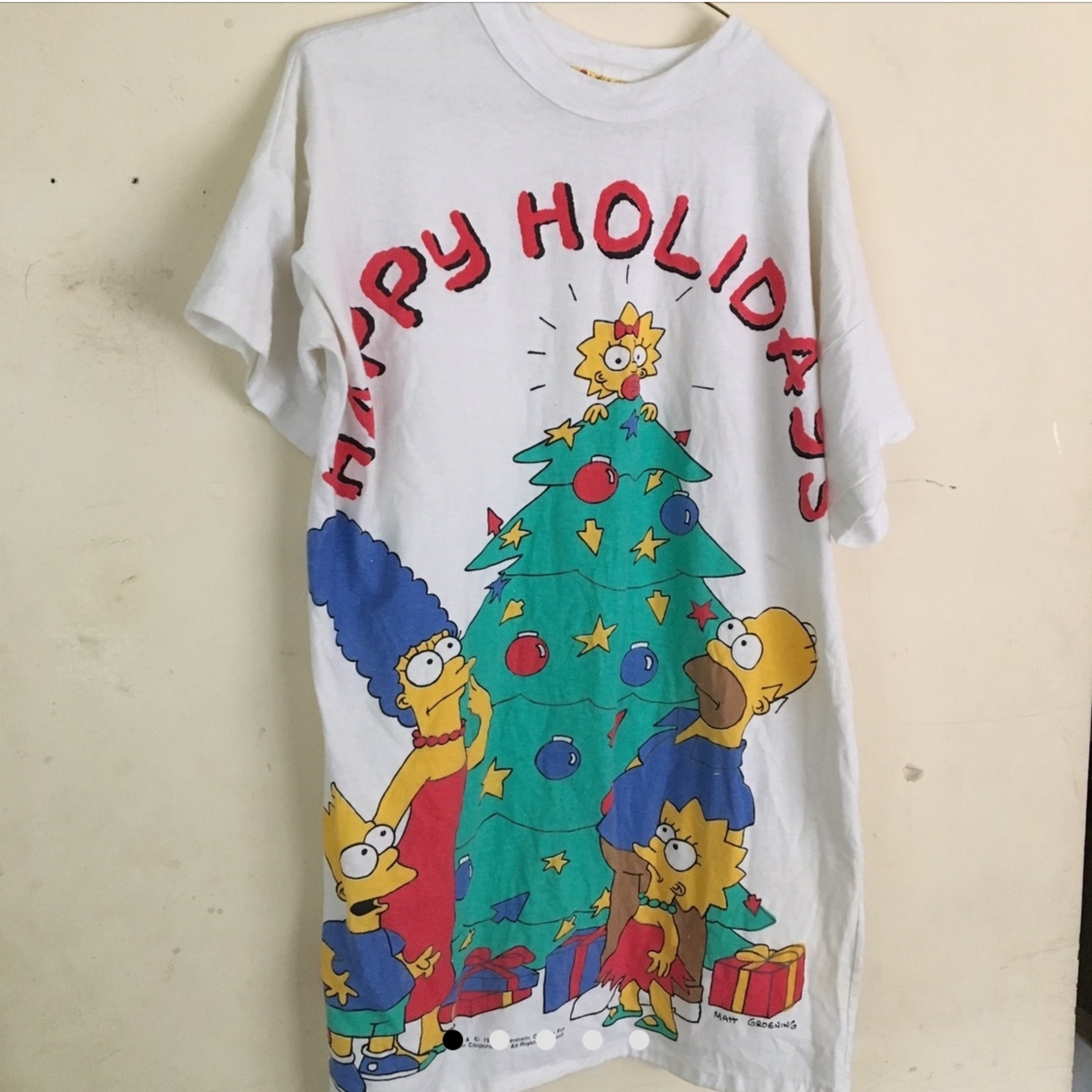 Vintage 1990 The Simpson's Christmas T