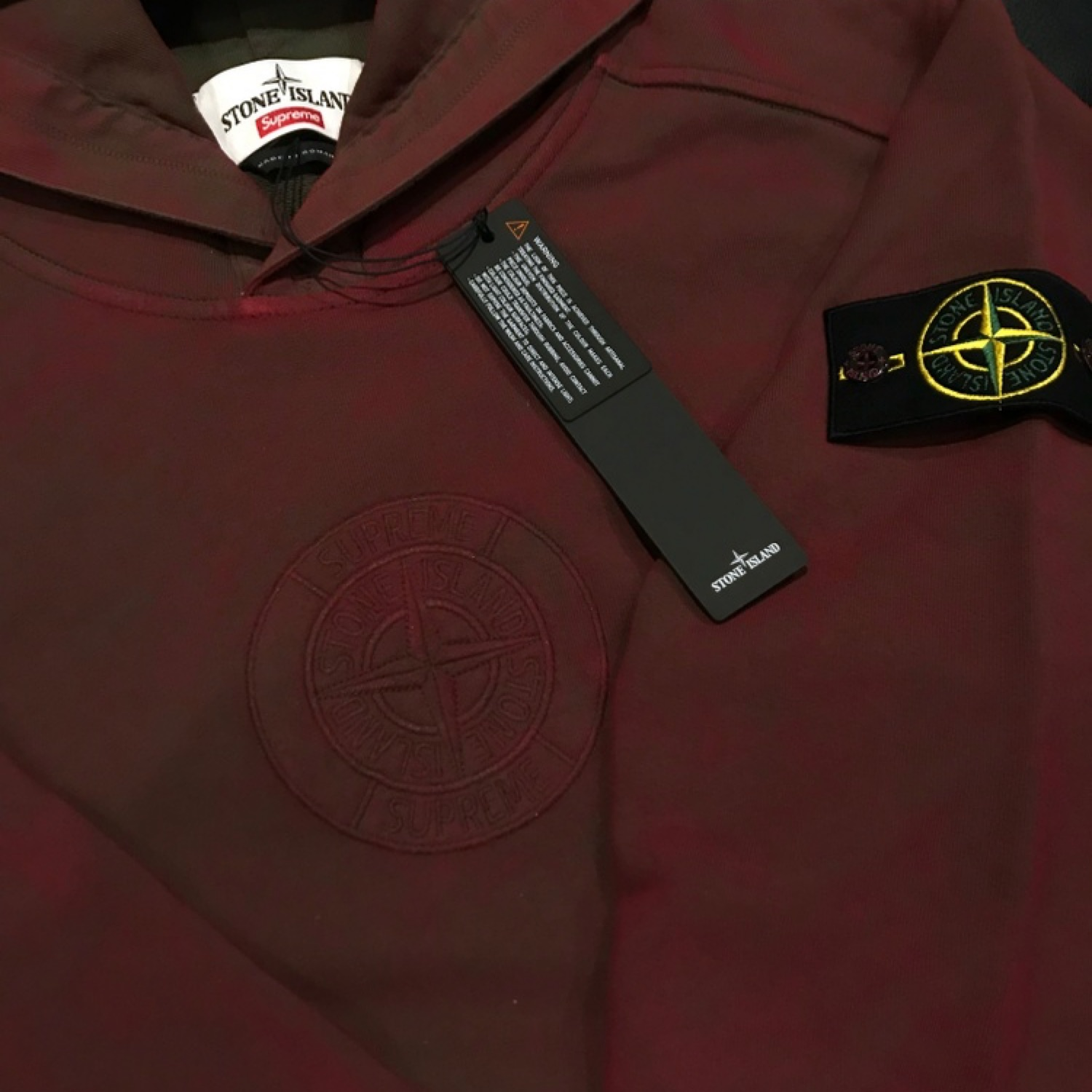 "Supreme X Stone Island ""Dust Treatment"" Hoodie *Ds"