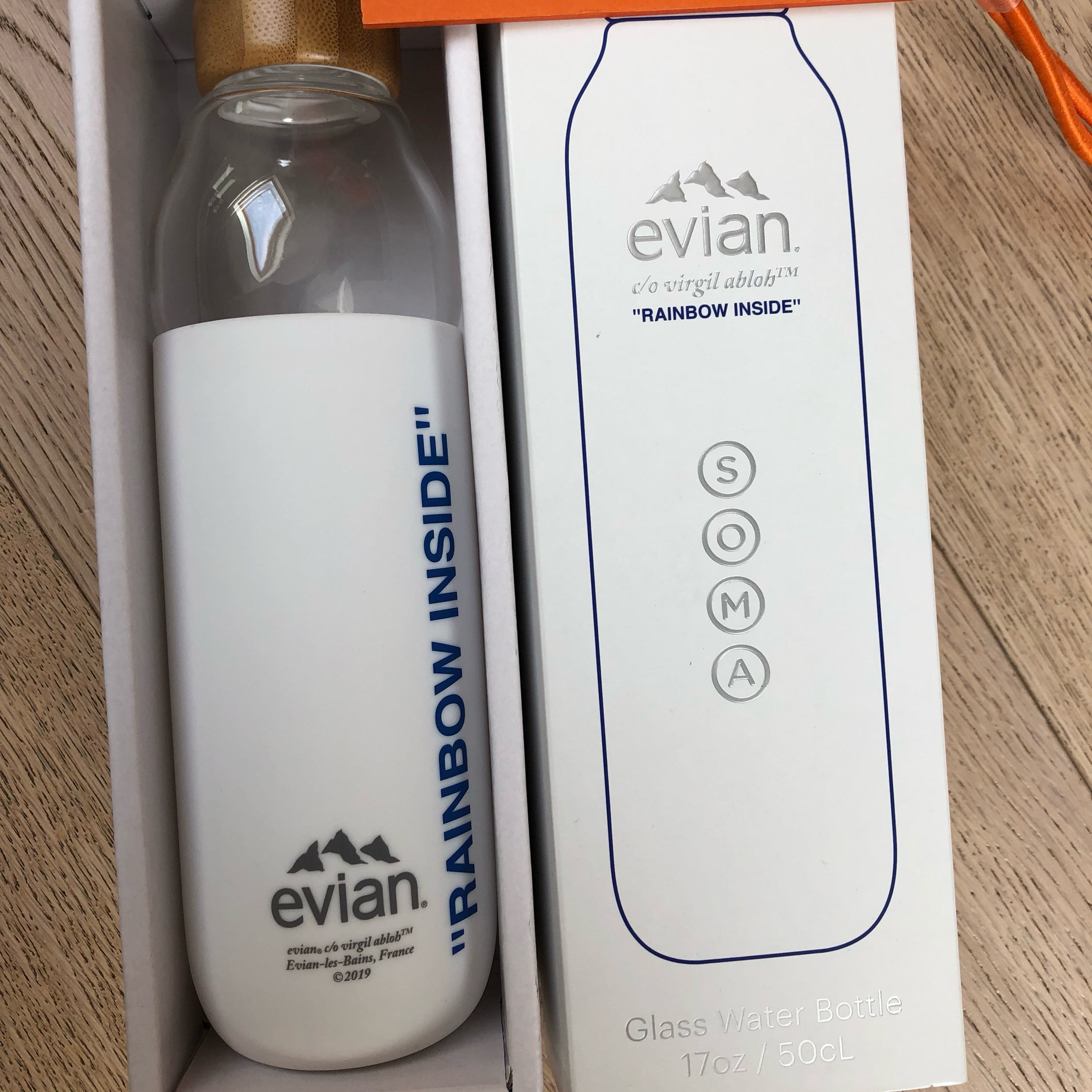 Evian X Virgil Abloh X Soma Water Bottle