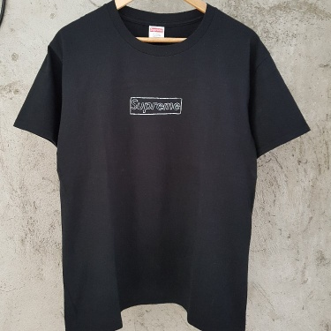 Supreme X Kaws Box Logo T-Shirt Black