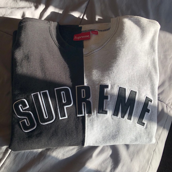 Supreme Split Crewneck Black