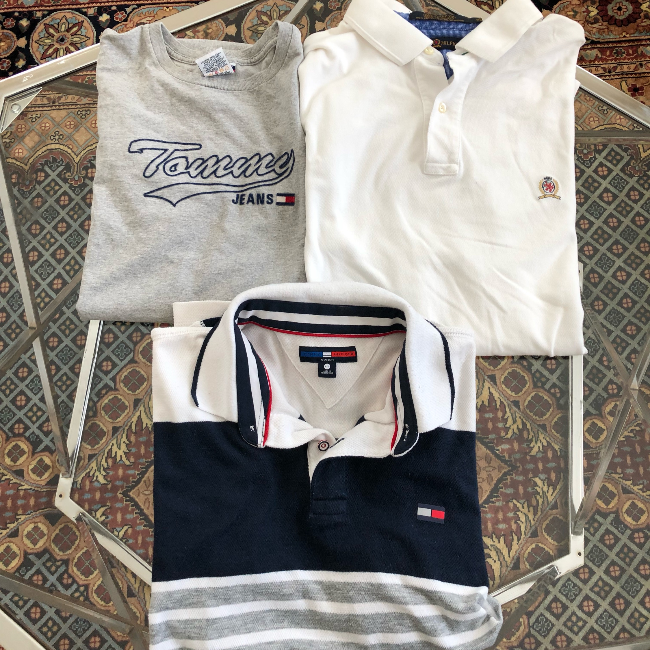 Vintage 3 Shirts Classic Tommy Hilfiger Polo Lot 3