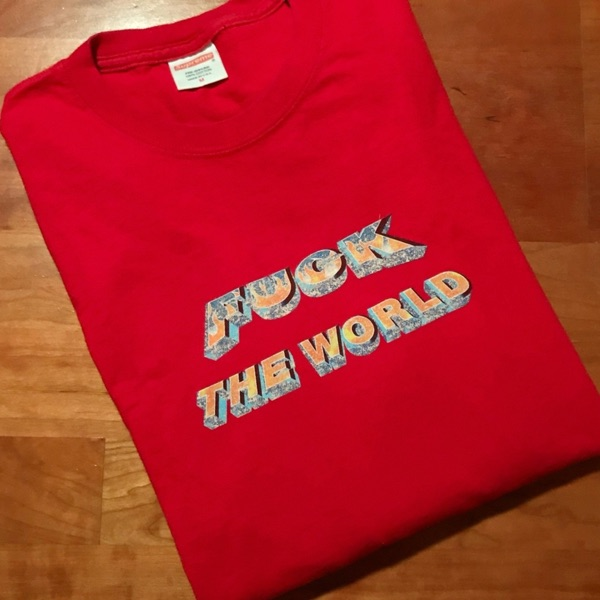 Supreme Fuck The World Longsleeve T Shirt Red