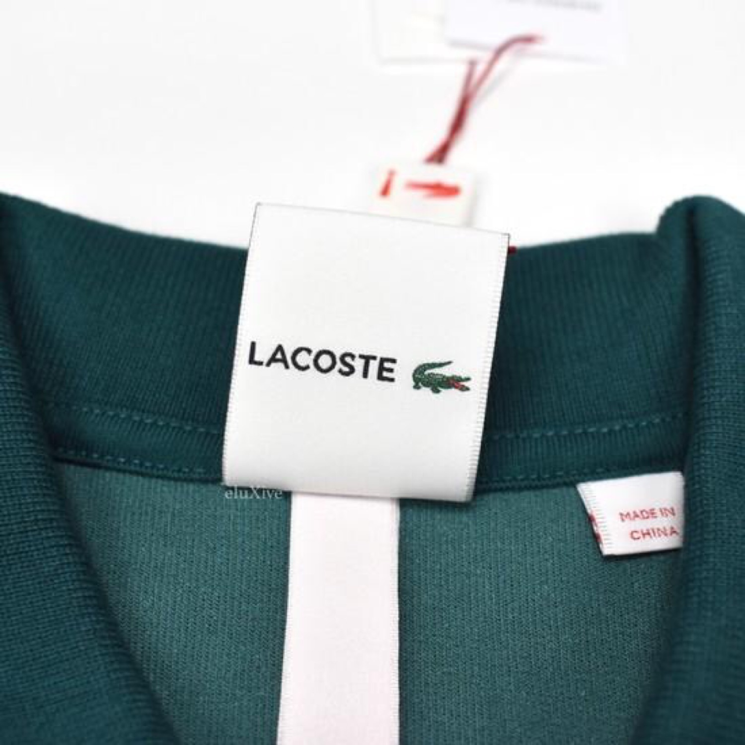 Supreme X Lacoste Teal Velour Logo Polo Shirt Ds