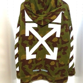 hoodie off-white camouflage oversize size S