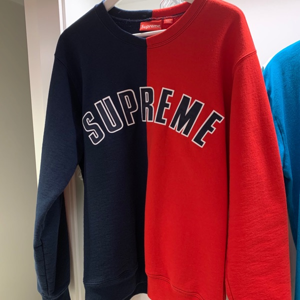 Supreme Split Crewneck Navy
