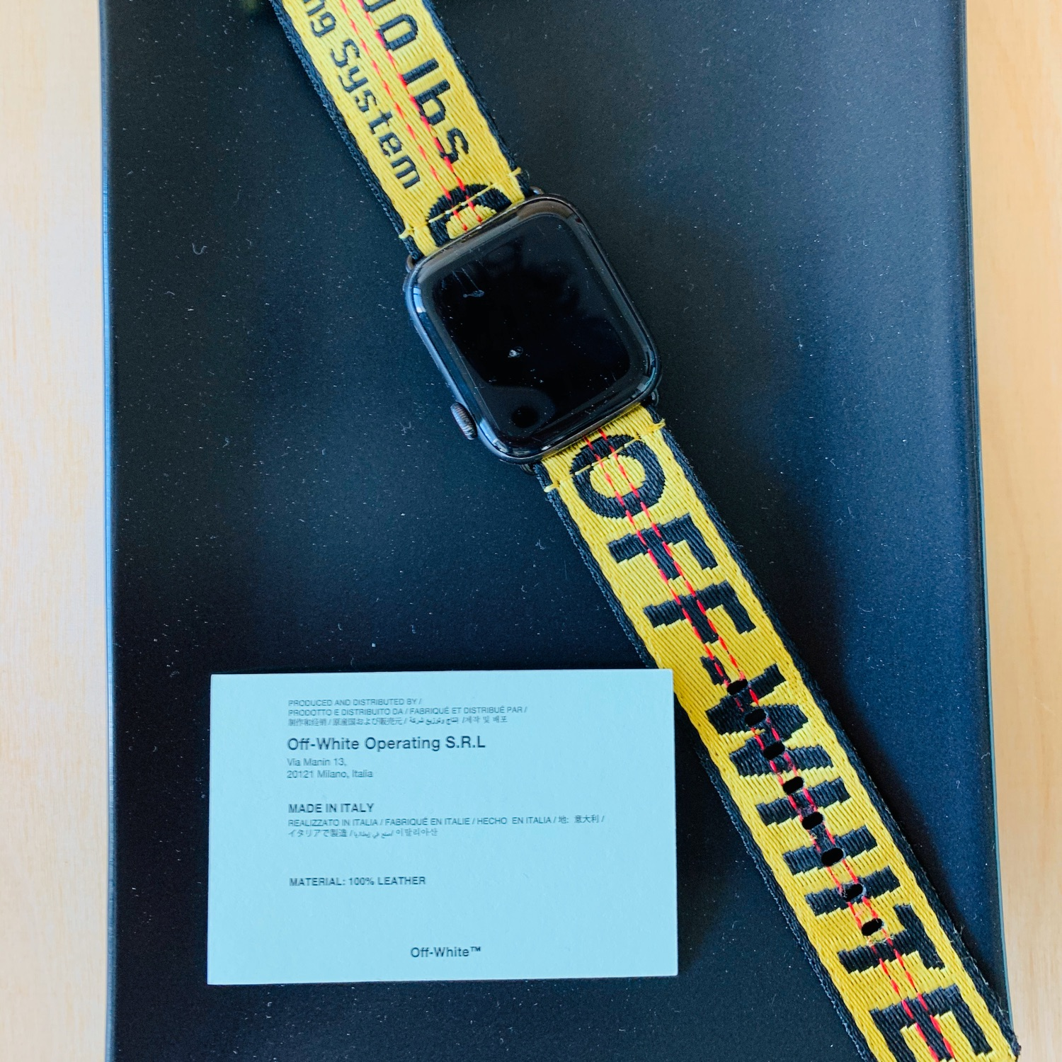 Off White Apple Watch Band - Accessories