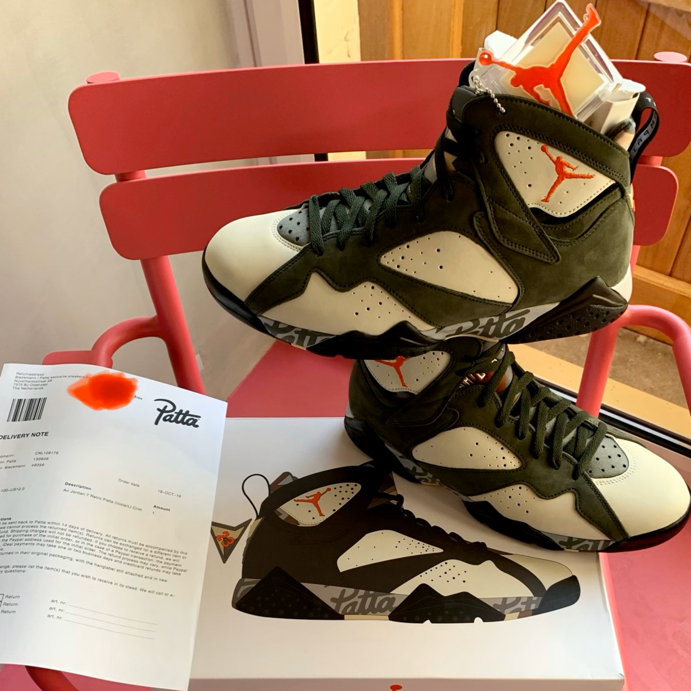 Jordan 7 Retro X Patta Icicle Size Us12 Fr46