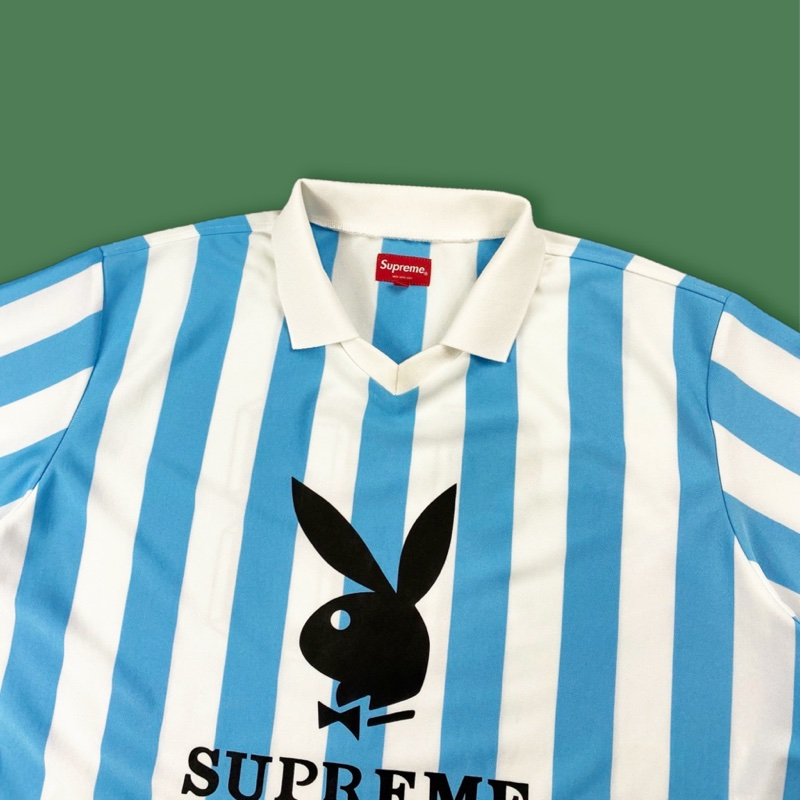 Supreme x Playboy Jersey White / Blue